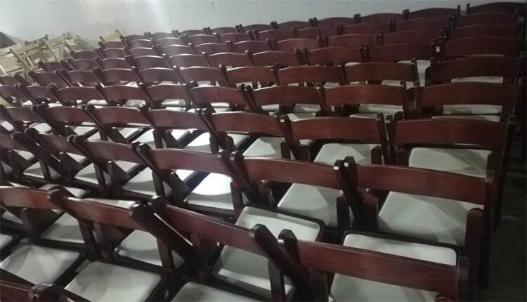 light mahogany folding chairs