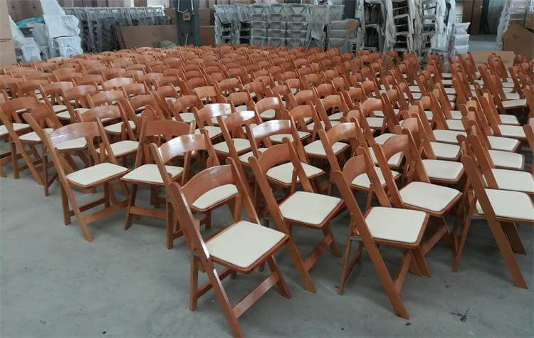 natural Padded folding chairs