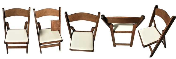 wooden pad folding chair
