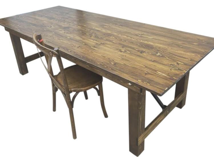 Rustic Brown Farmhouse table