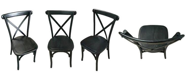 black cross back chairs