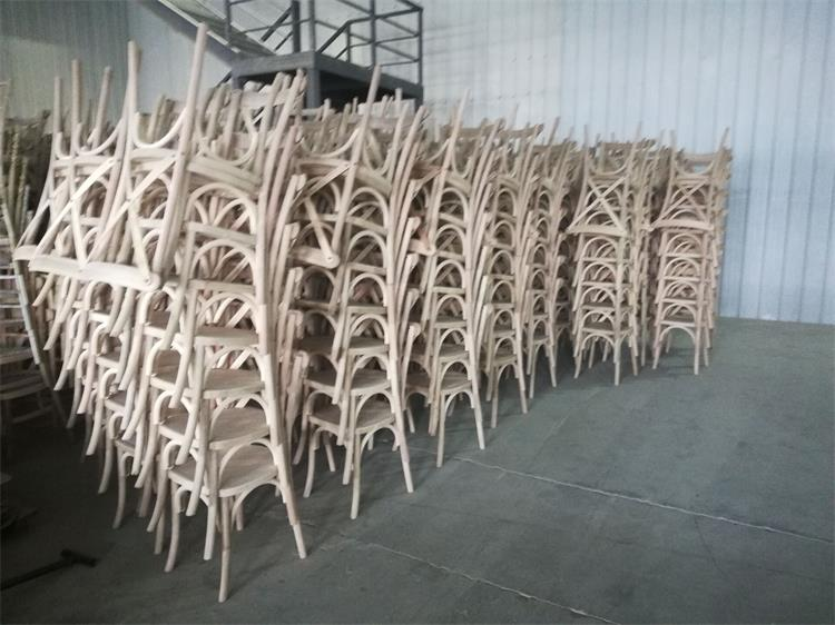 mass production of crossback chairs