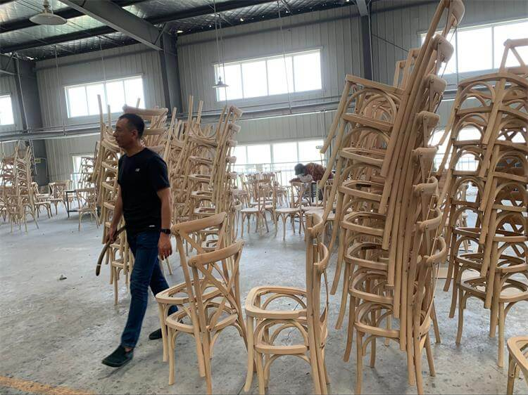 qc in factory for crossback chairs