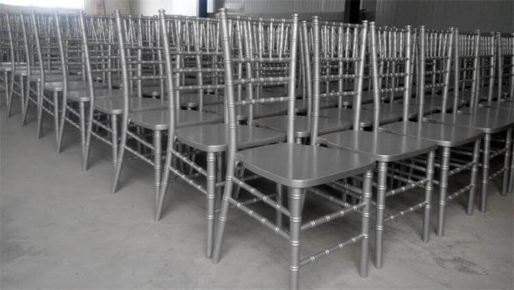 wooden chiavari chair silver