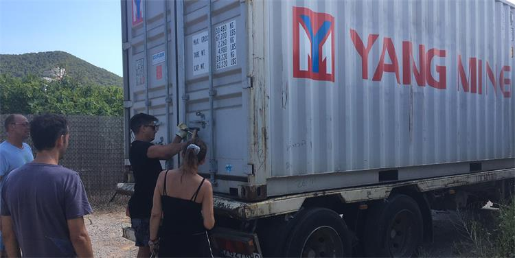 unloading container