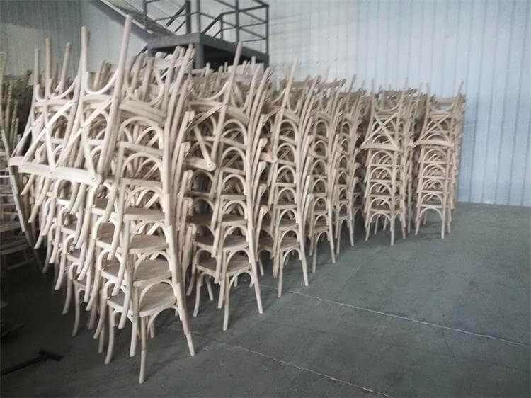 unpainted crossback chairs