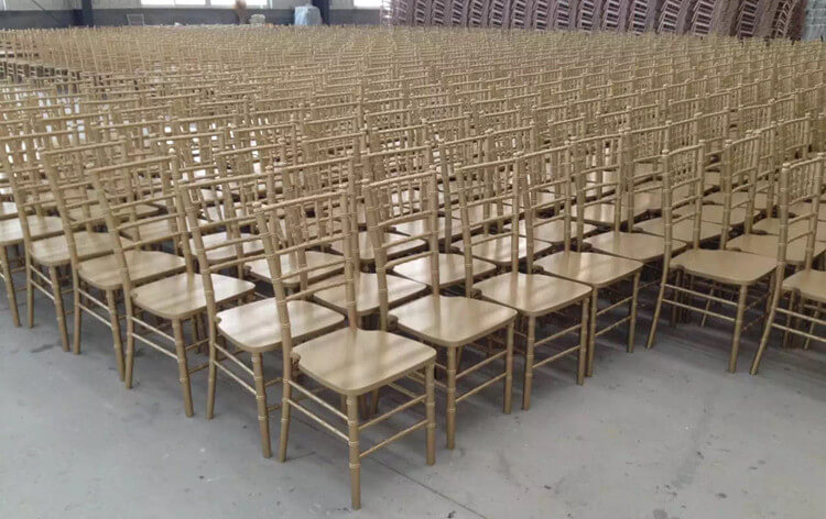 Gold wood Chiavari chairs