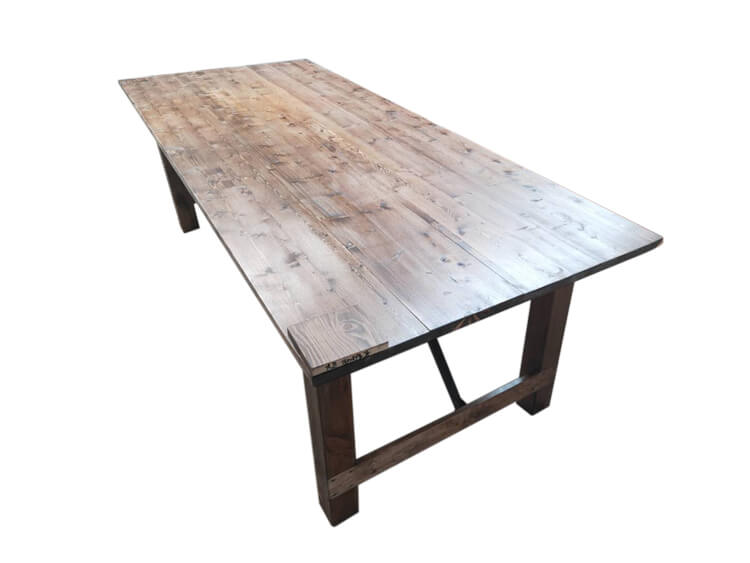 light brown farm tables