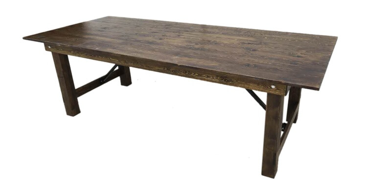 wooden farmhouse tables
