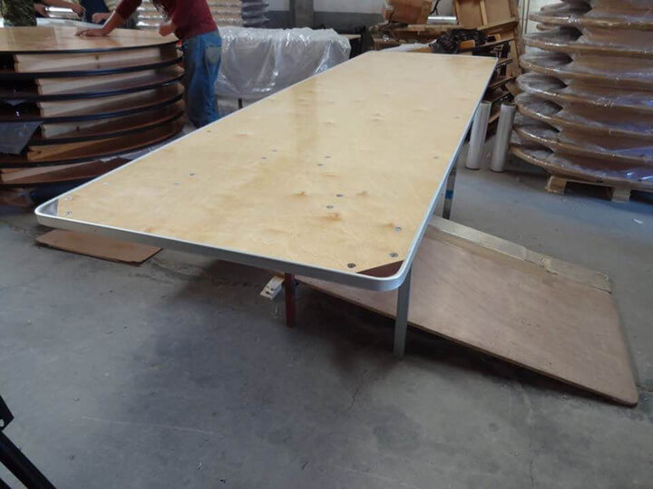 Folding Table with Aluminum edge