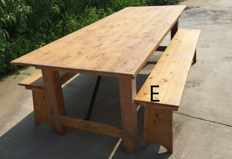 solid wood farmhouse table and chairs