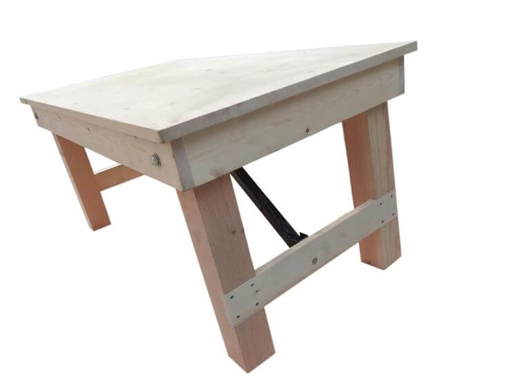 children folding farm tables