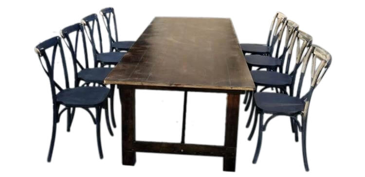 farm tables for 10 people
