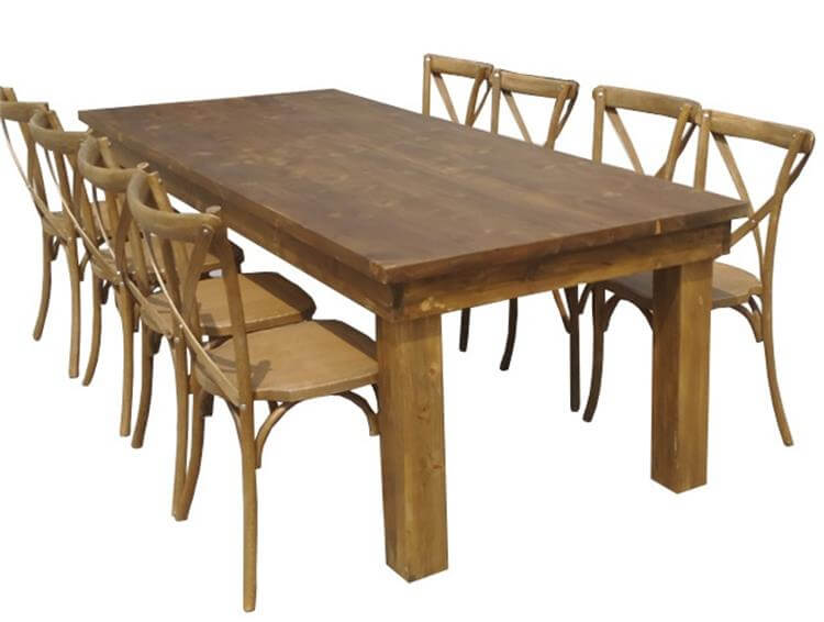farm tables for 10 seats