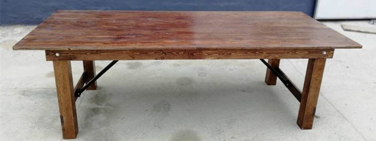 folding rustic table