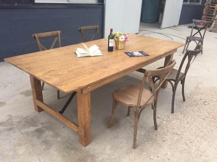 120 inch farmhouse table