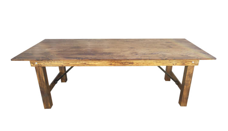 light brown rustic table