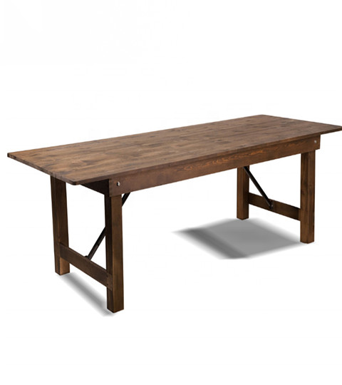 Antique Rustic Solid Pine Farmhouse Folding Table