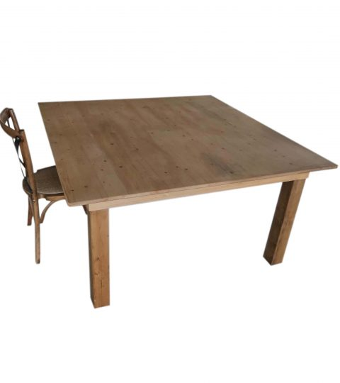 Wood Square Dining Table