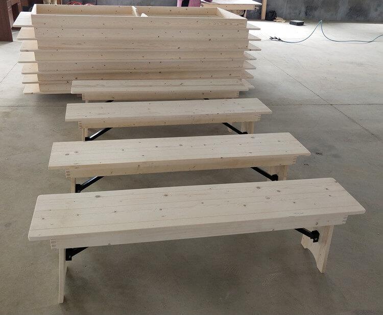 folding farmhouse table manufacture