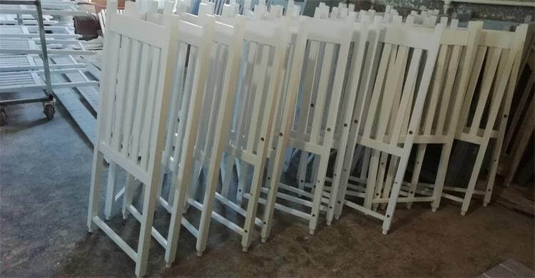 before package of dining chairs