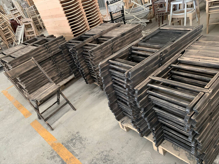 walnut folding chairs