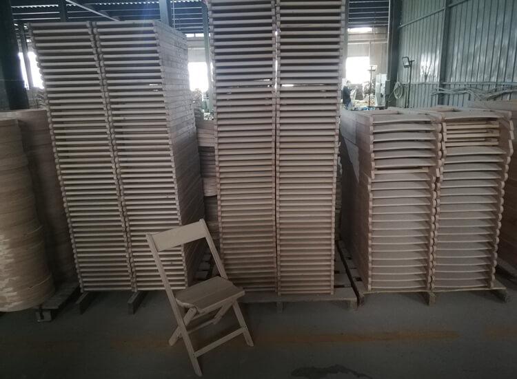 1942 wooden folding chair factory