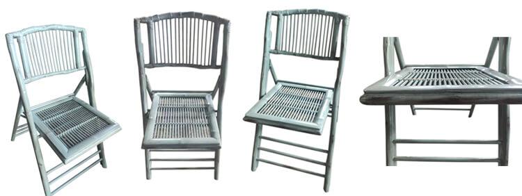 Aqua Dusty bamboo folding chairs