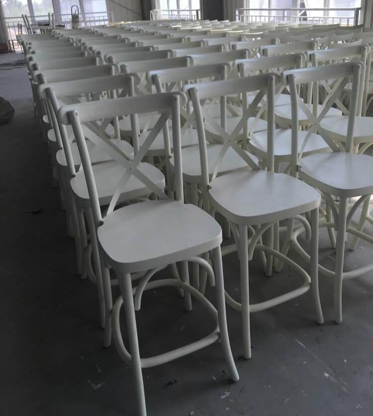 bar stools cross back wood