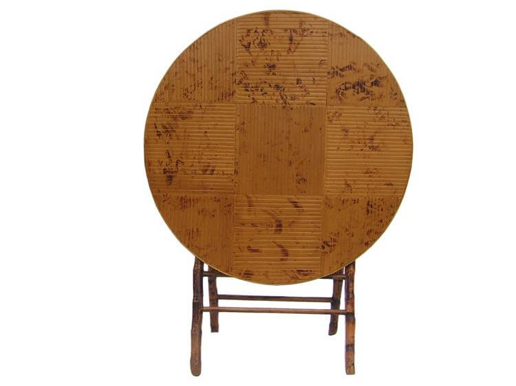 Round bamboo folding table company
