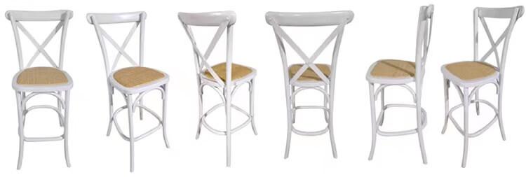 barstool x back chairs white