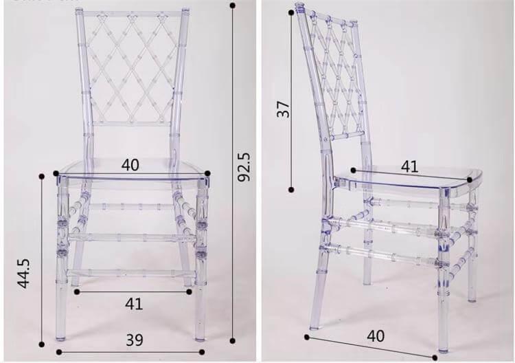 Clear resin diamond chair
