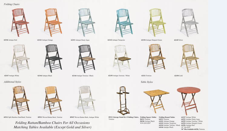 color of bamboo chairs