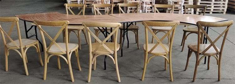 cross back chairs with tables