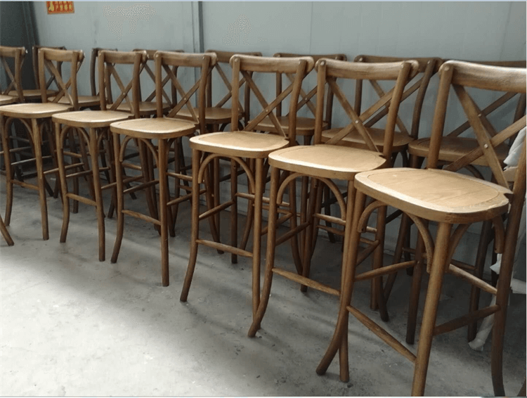 crossback barstool manufacturer light color