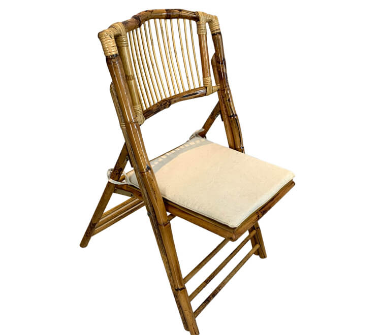 folding bamboo chairs with cushion