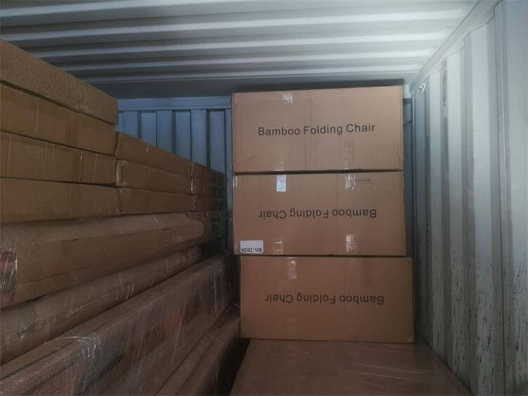 loading container of folding chairs