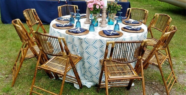 outdoor bamboo folding chairs