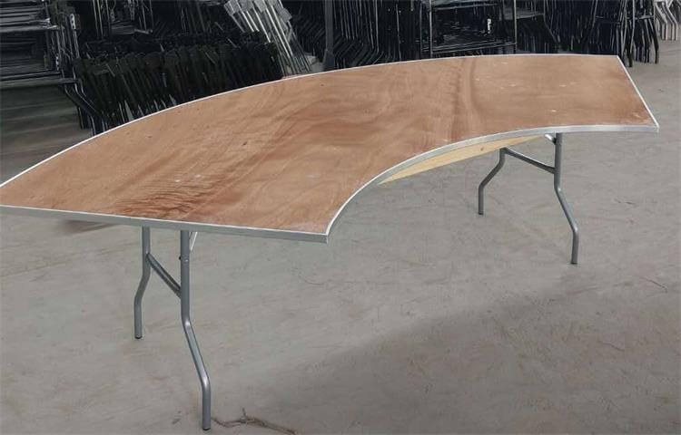 plywood folding Serpentine Banquet Table