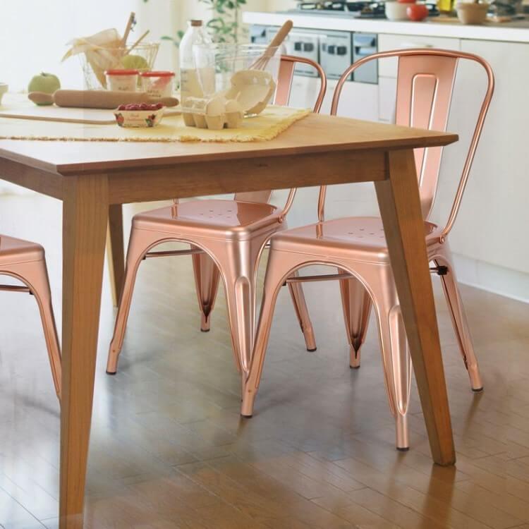 rose gold tolex chair
