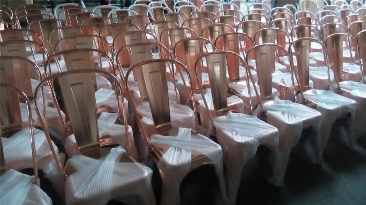 tolix chairs red rose gold