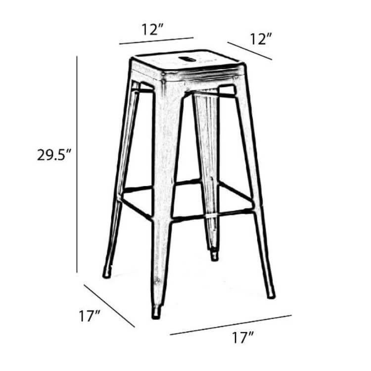 tolix chair barstool size