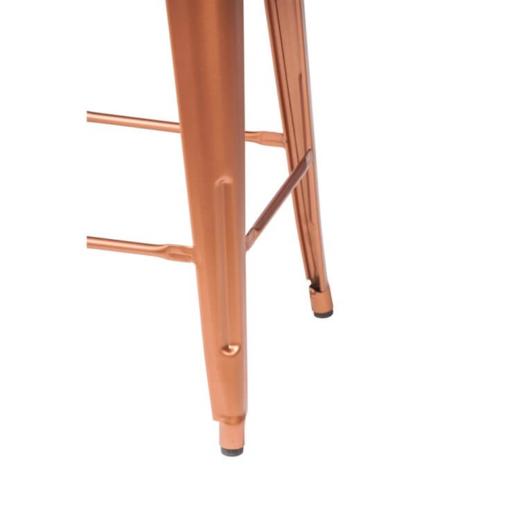 tolix chair barstool gold rose