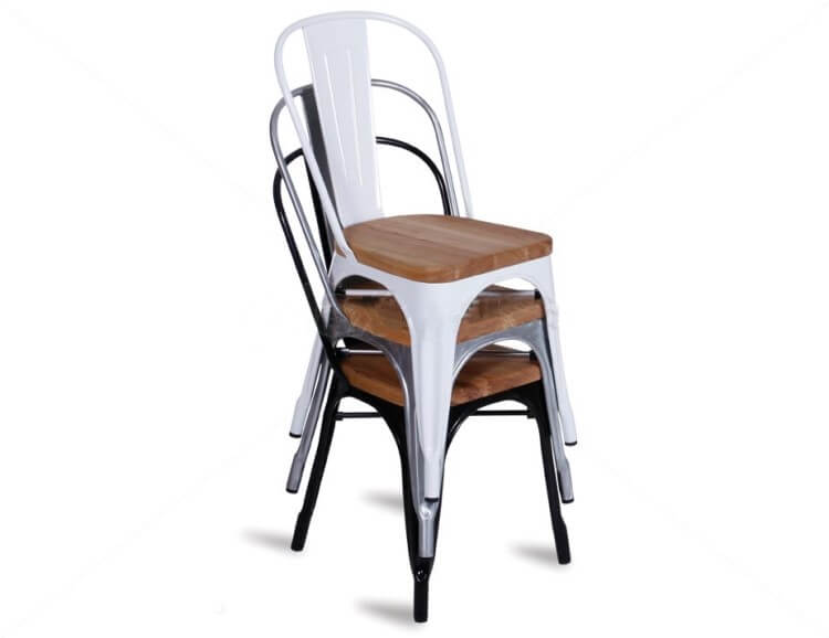 Stackable Tolix Chairs