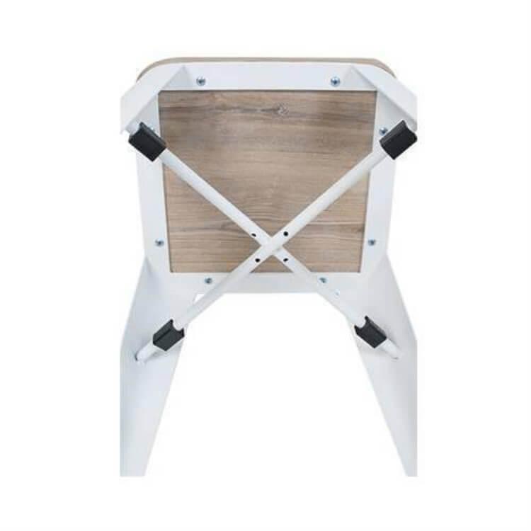 Stackable antique Tolix Chair white
