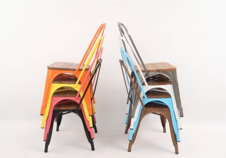 Stackable antique Tolix Chair