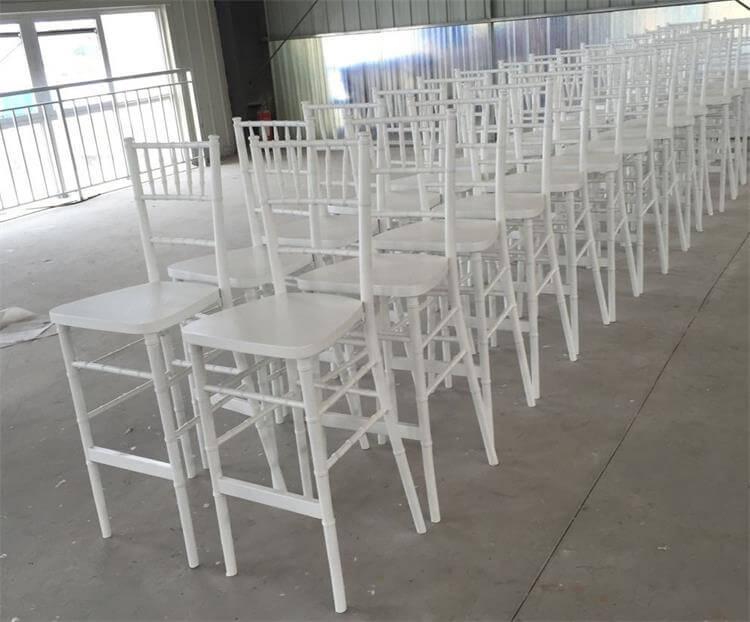 white chiavari chair stool
