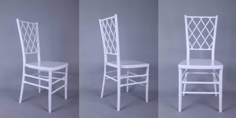white diamond chiavari chairs
