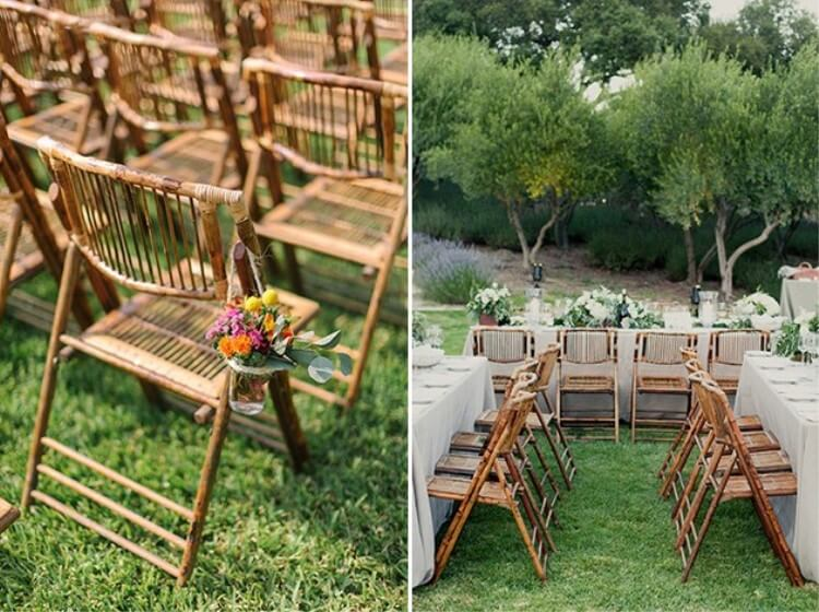 bamboo fold up chairs