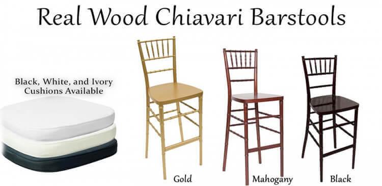real wood chiavari barstools